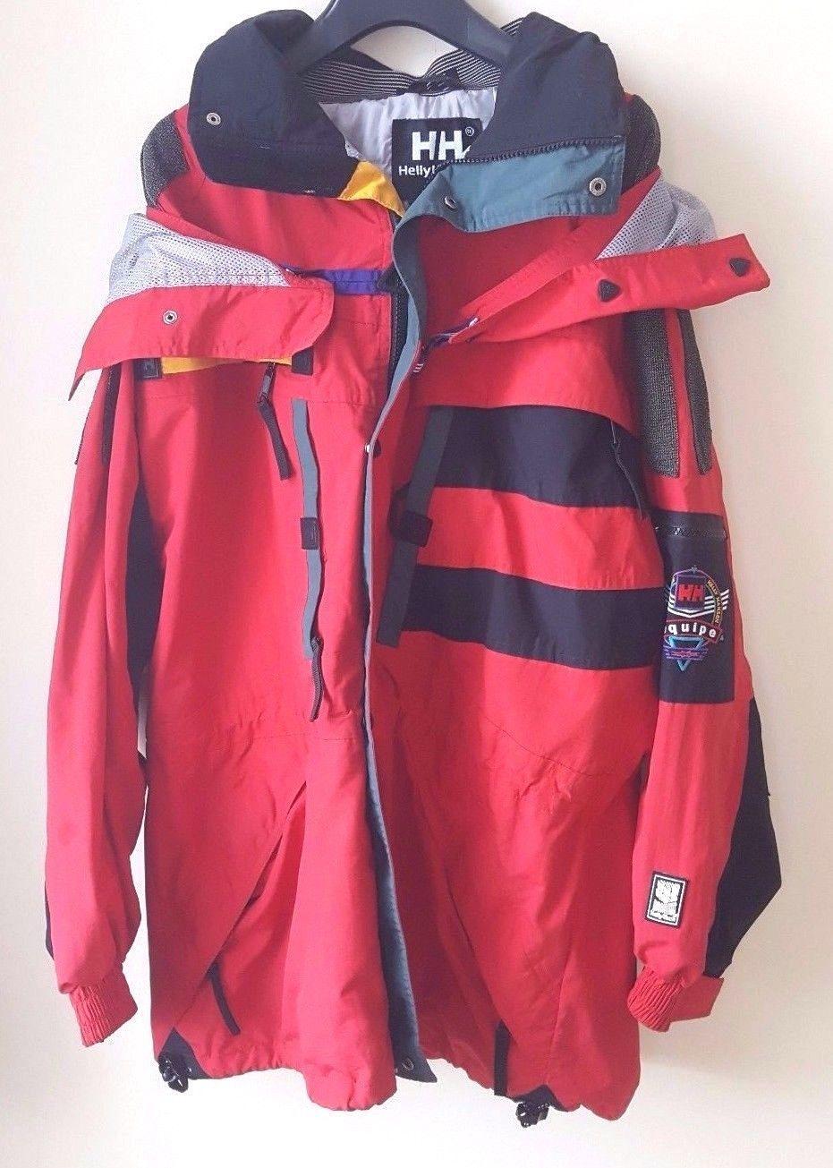 c20f028c58 Helly #hansen equipe #men's red ski snowboard jacket size m waterproof  #vintage 9