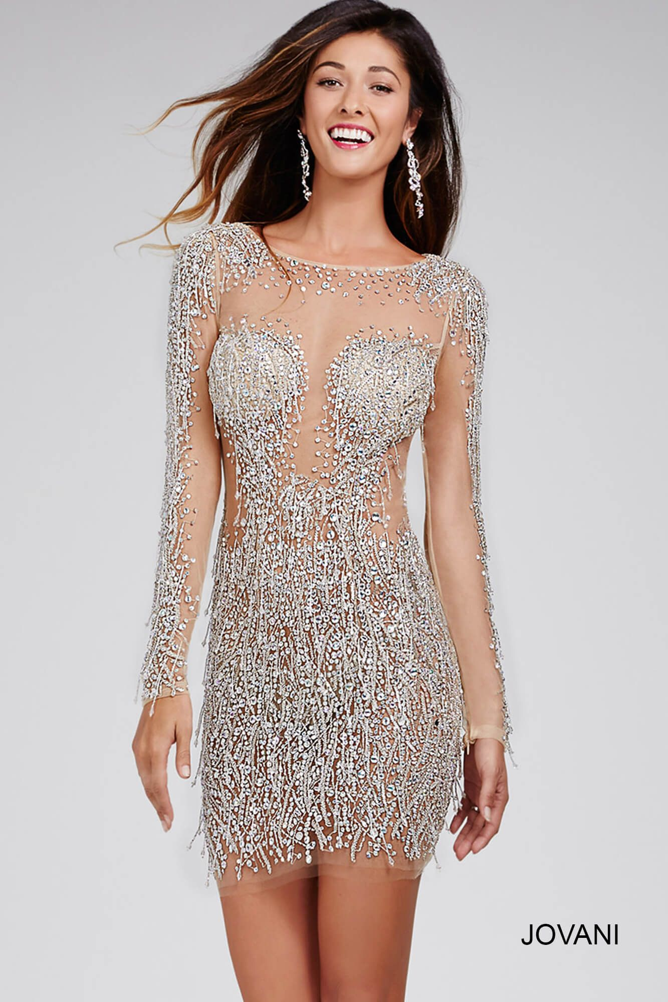 This #jovani 29300 with fringe detailing is simply glamorous ...