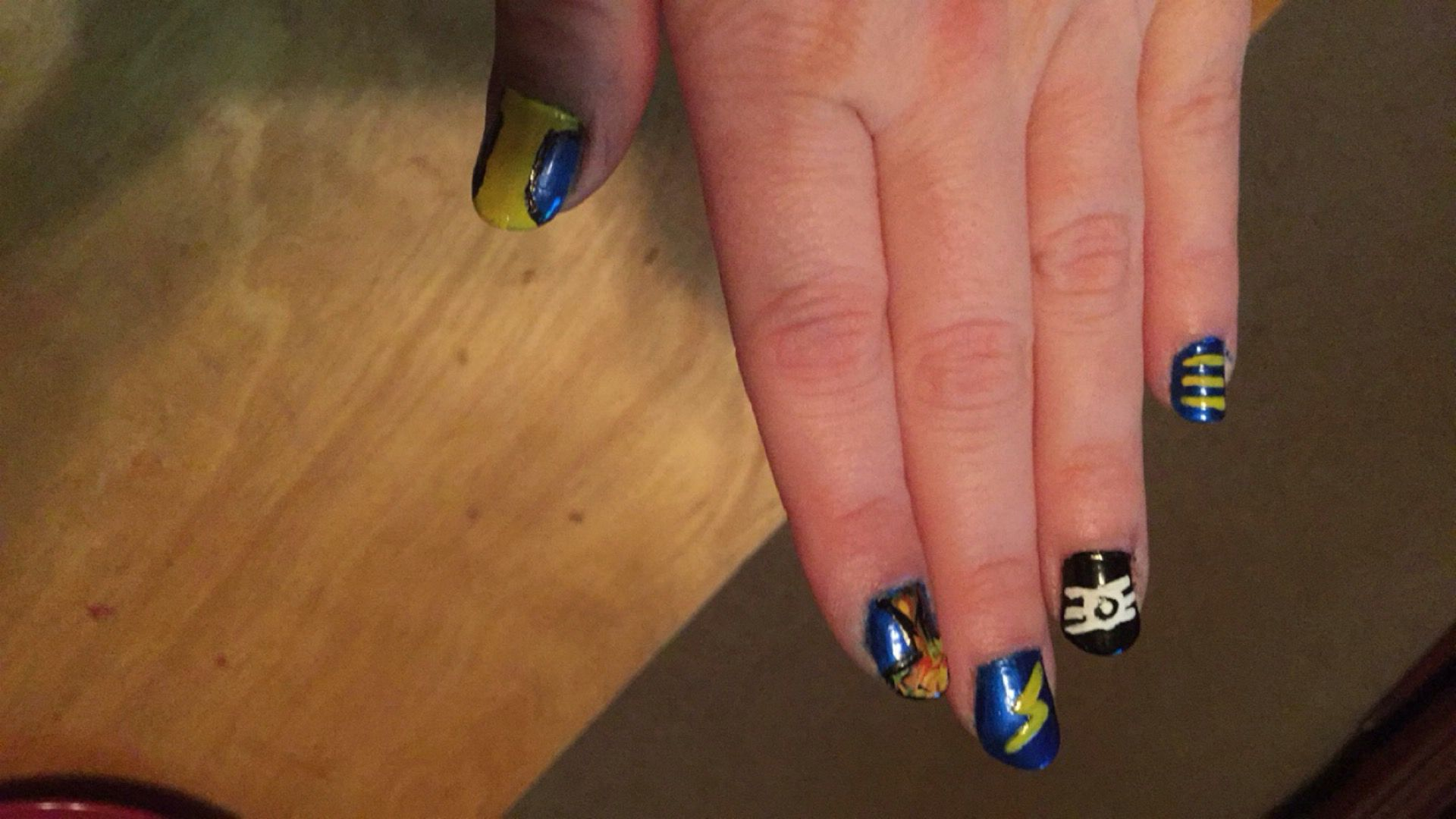 Did my nails for Fallout 4! | Nail Art | Pinterest | Fallout