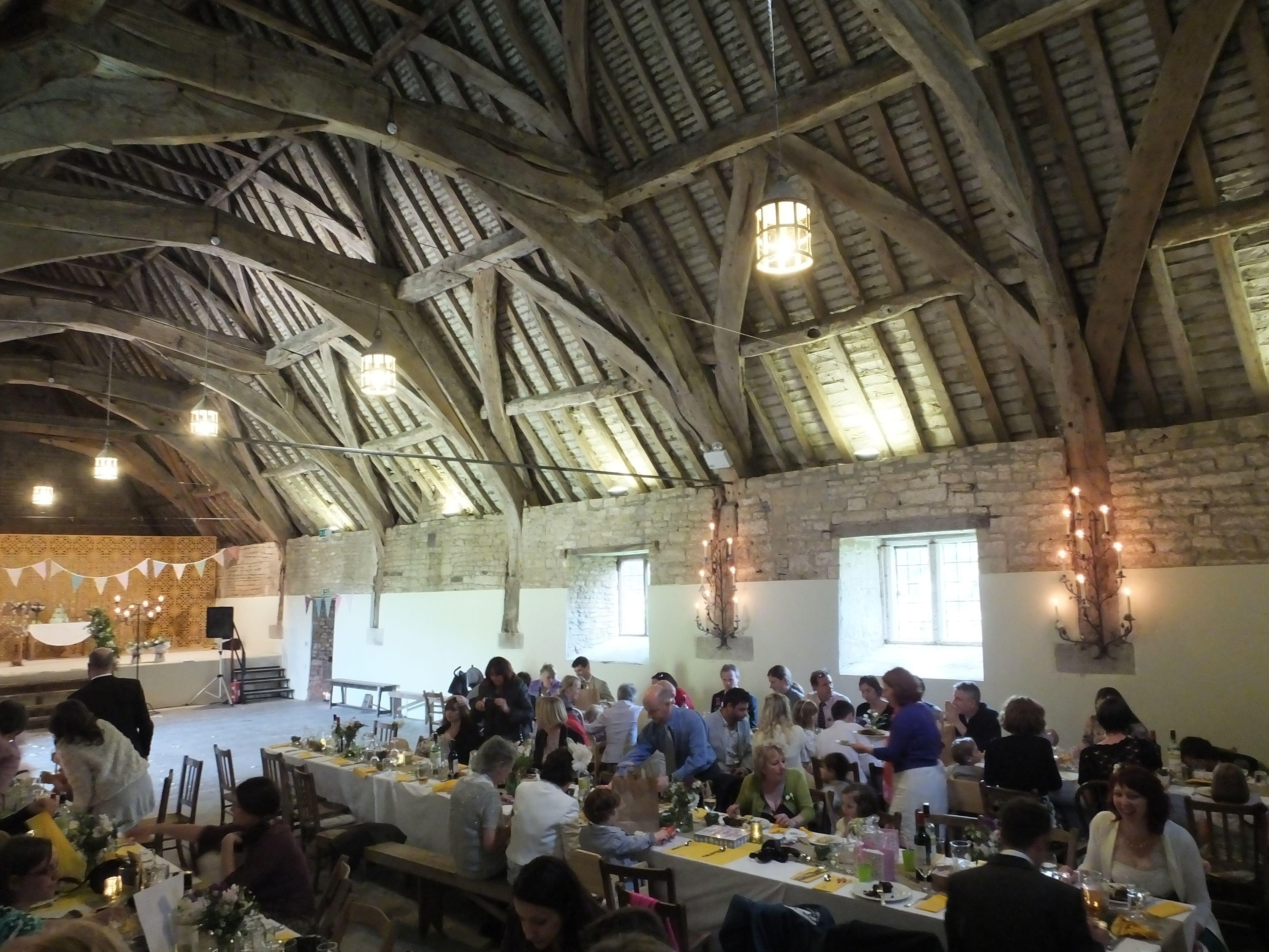 Wedding Interior At Stanway Tithe Barn Gloucestershire Uk