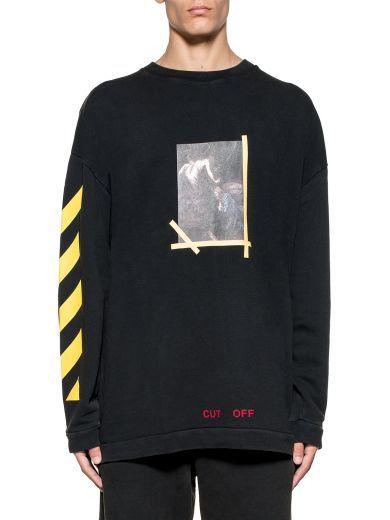 58cad126695f OFF-WHITE Black S.francesco Sweatshirt.  off-white  cloth