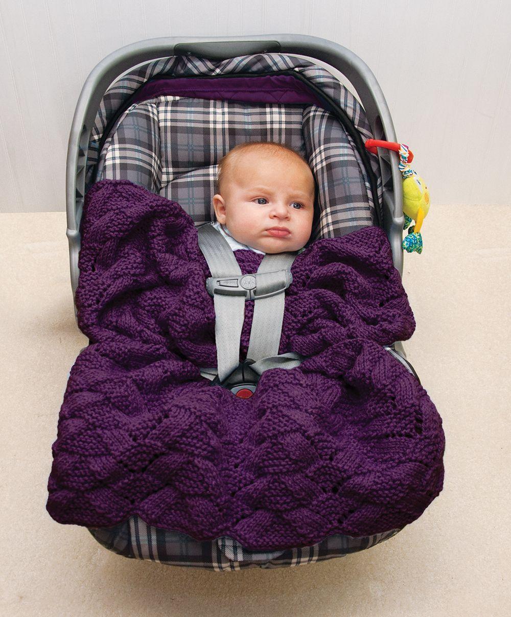 Free Easy Car Seat Knit Pattern | Knitting patterns free ...