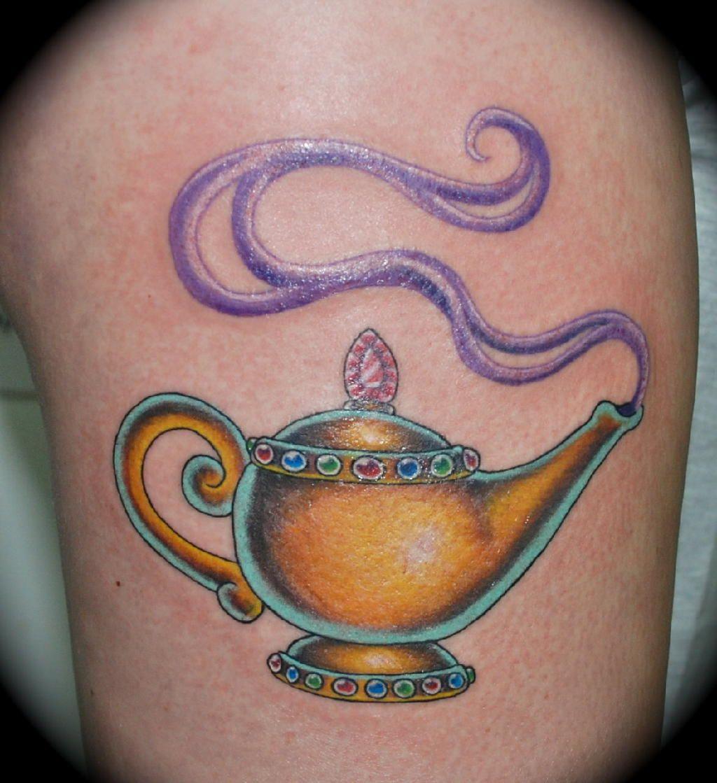Aladdin magic lamp tattoo google search alladin for Aladin tattoo salon