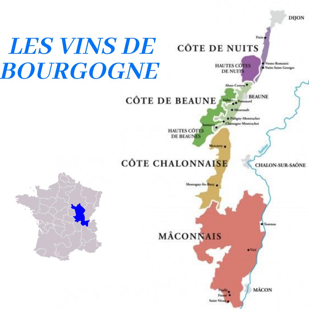 La Carte Des Vins De Bourgogne Instagram Wine Map