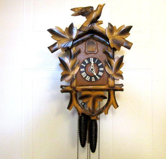 Vintage Wooden Cuckoo Clock Hubert Herr