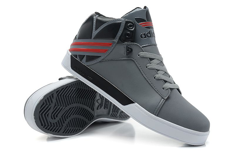 Adidas Originals City of love 5 generations men's high top shoes gray black  red