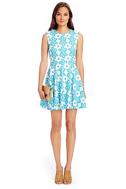 Jeannie Cotton Fit and Flare Dress