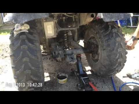 How To Change Rear Axle Hubs Gears Bearings On 1995 Wolverine P 1 Youtube Monster Trucks Yamaha Wolverine Owners Manuals