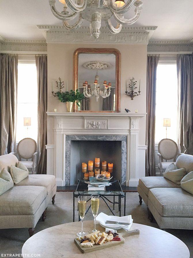 Charleston Decor. Flirty Florals at Zero George Charleston  Room Living rooms and