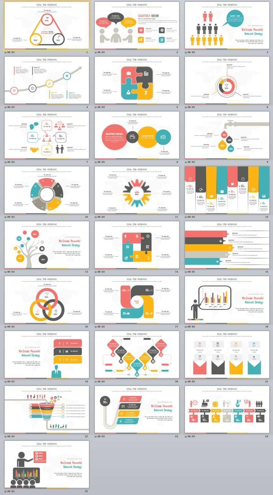 25 Infographics Slides Powerpoint Templates Presentation Template