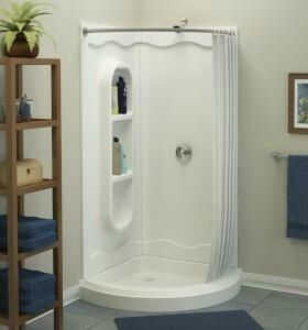 Corner Shower With Curtain With Images Corner Shower Stalls