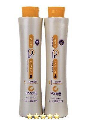 (Ad) Honma Tokyo Bixyplastia Keratin Brazilian Hair treatment 2 Steps Straightening