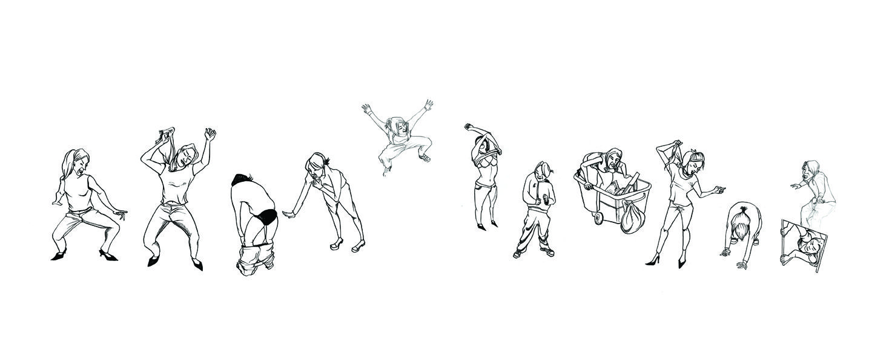 Love this horizontal drawing by Da Hae Kim - so fun
