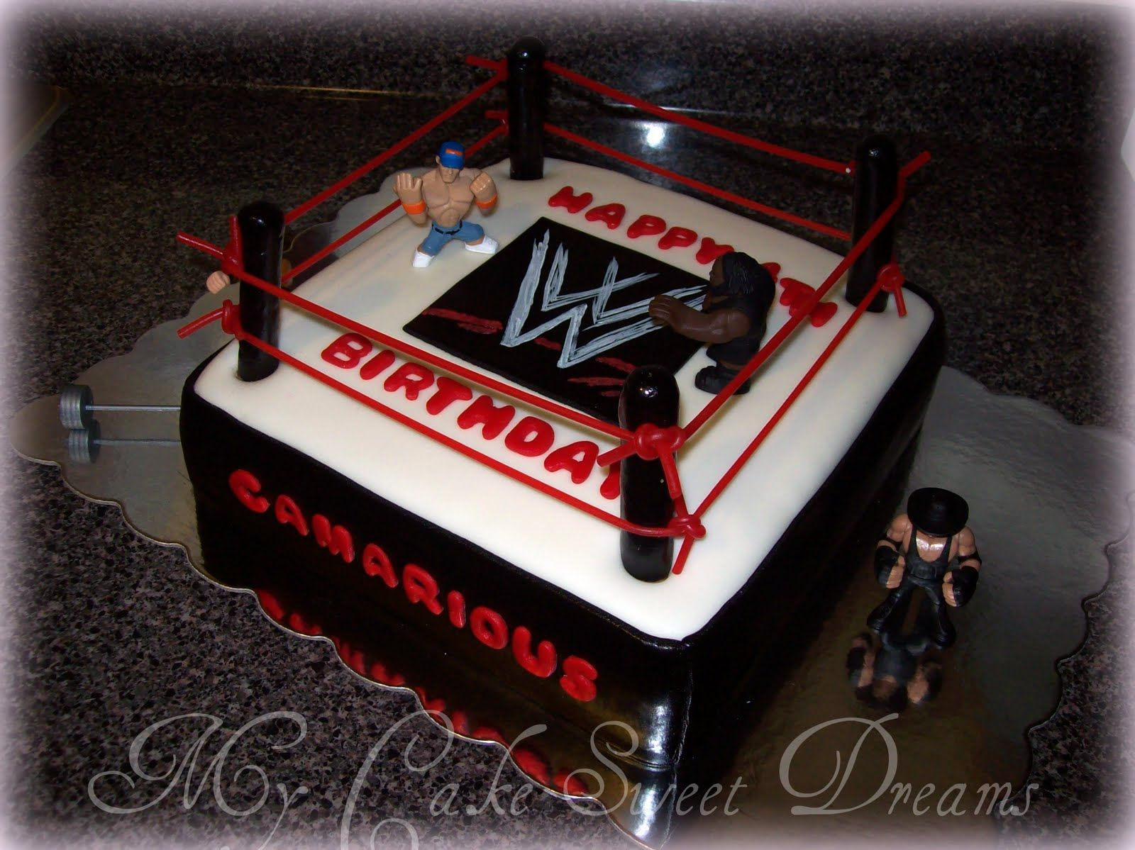 Wwf Cake My Cake Sweet Dreams Quot Wwe Wrestling Cake