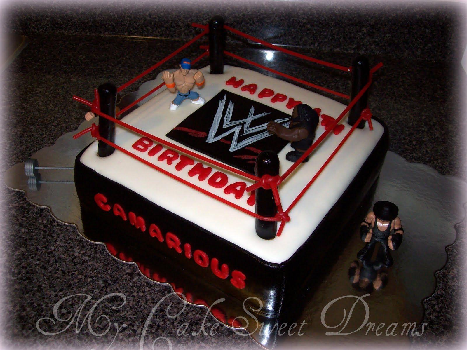 wwf cake My Cake Sweet Dreams WWE Wrestling Cake Pretty
