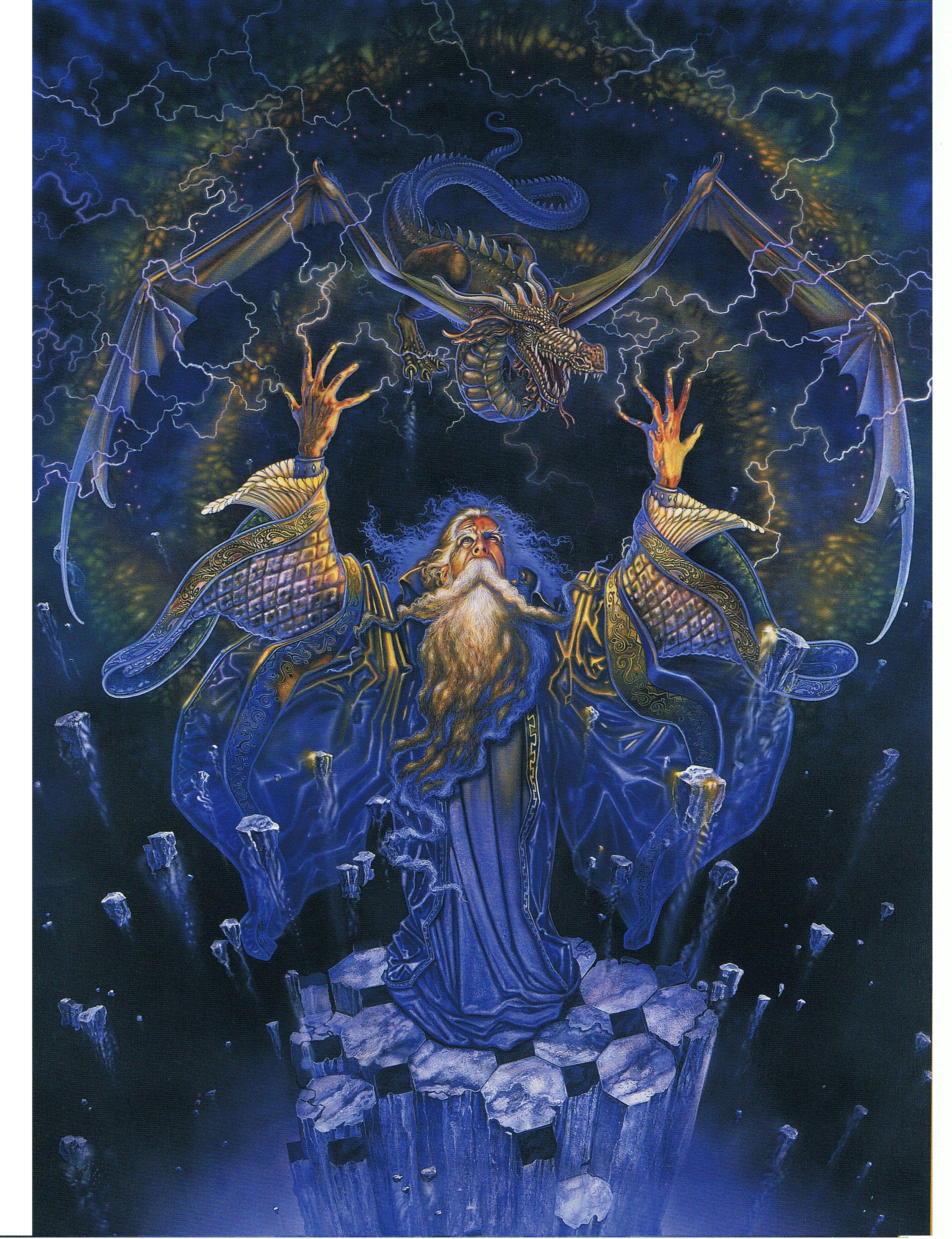 blue wizard dragons pinterest