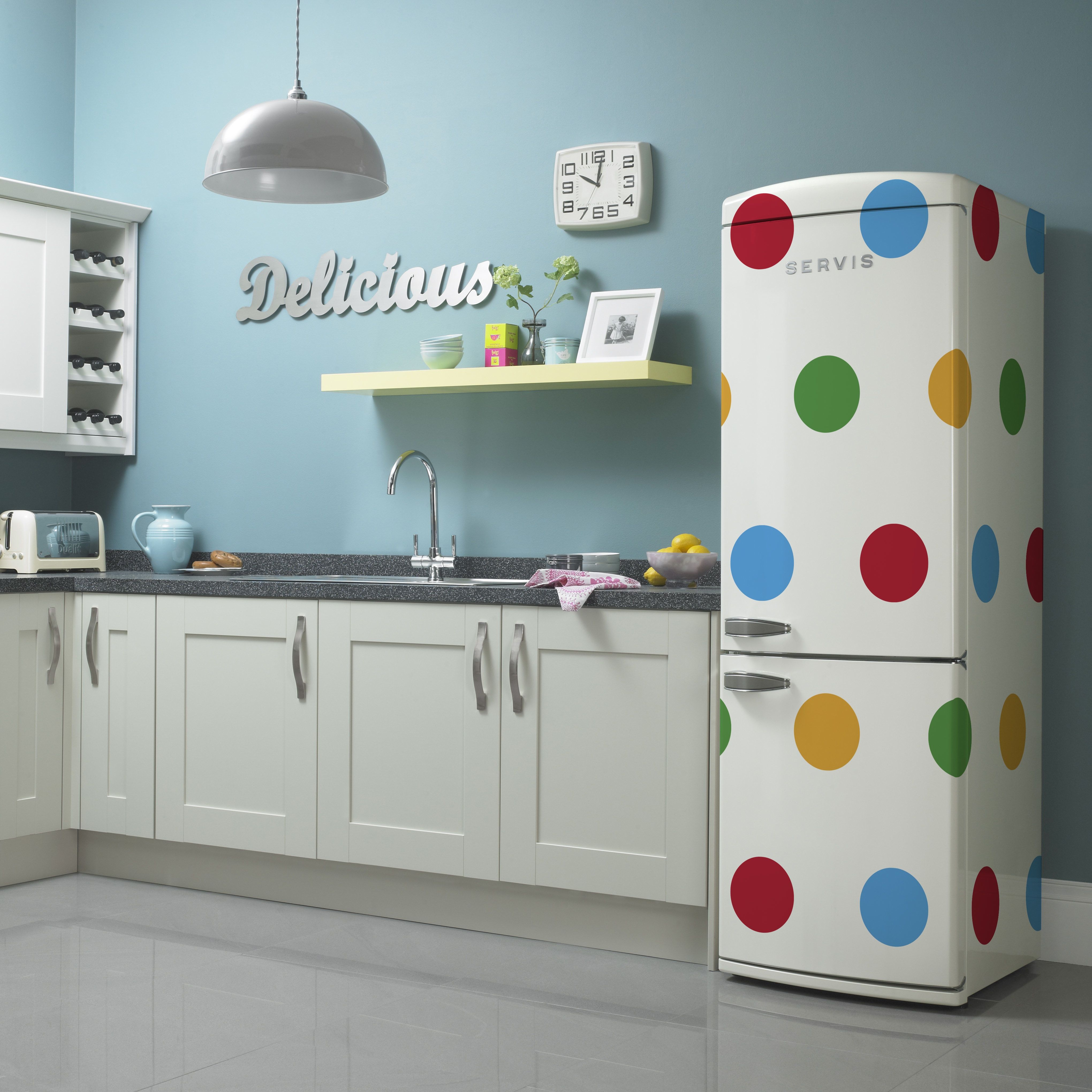 The-exclusive-polka-dot-retro-fridge-freezer-available-from-Crampton ...