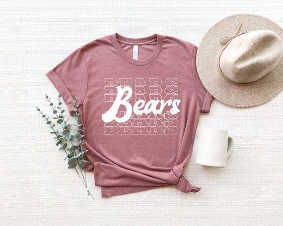 Team Mascot Shirt Bears Team Shirt Bears Team Spirit Shirt   Etsy