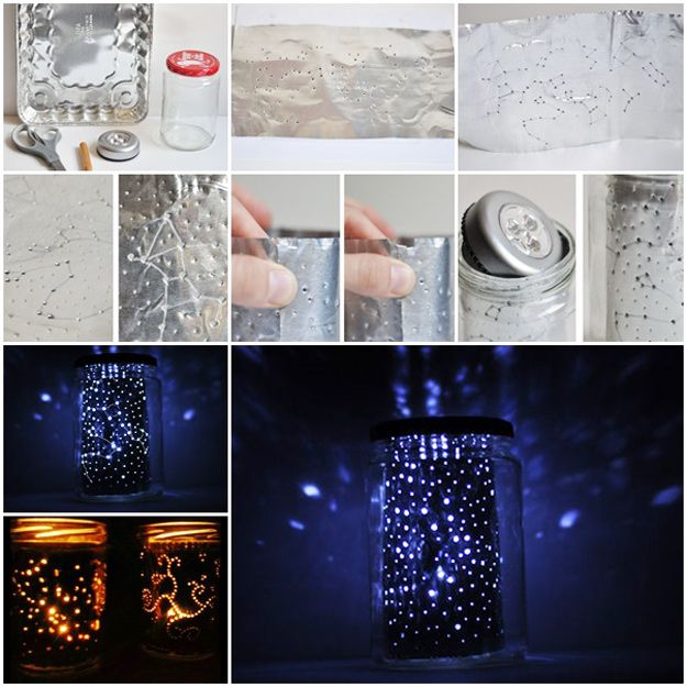 Fun Pinterest Crafts That Arent Impossible Constellation Jar - Best weekend diy projects ideas