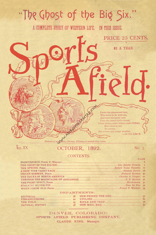 SPORTS AFIELD Fine Art Print - Rustic Decor - Sportsman Gift ...