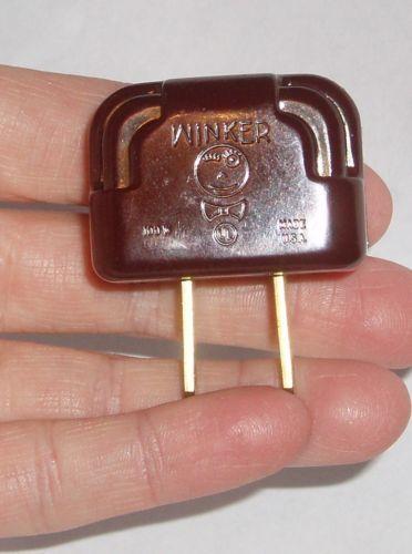 vintage bakelite christmas light winker blinker plug flasher adapter working