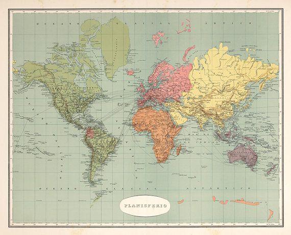 World map printable digital downloadntage world map old world world map printable digital downloadntage world map old world map vintage art image instant digital downloadintable mapp digital gumiabroncs Choice Image