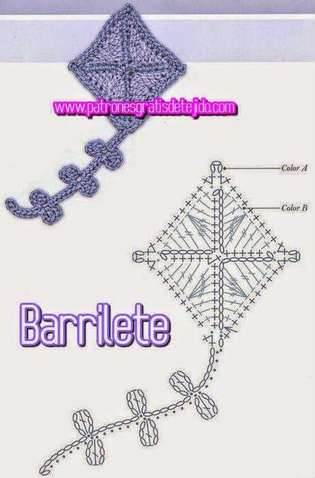 patron de barrilete ganchillo | ana | Pinterest | Croché, Ganchillo ...