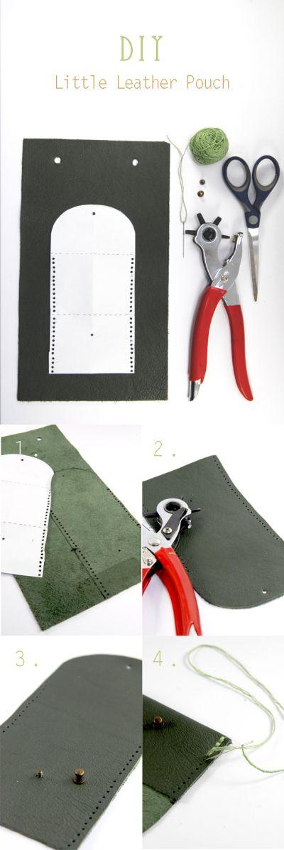 tuto comment faire un petit porte monnaie en cuir facilement leather pouch pouches and leather. Black Bedroom Furniture Sets. Home Design Ideas