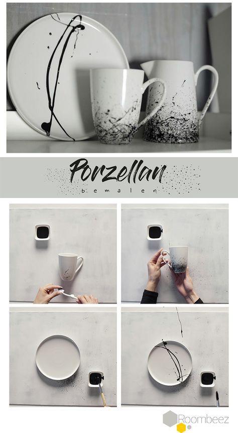Klassik trifft Moderne → Porzellan bemalen #potterypaintingdesigns