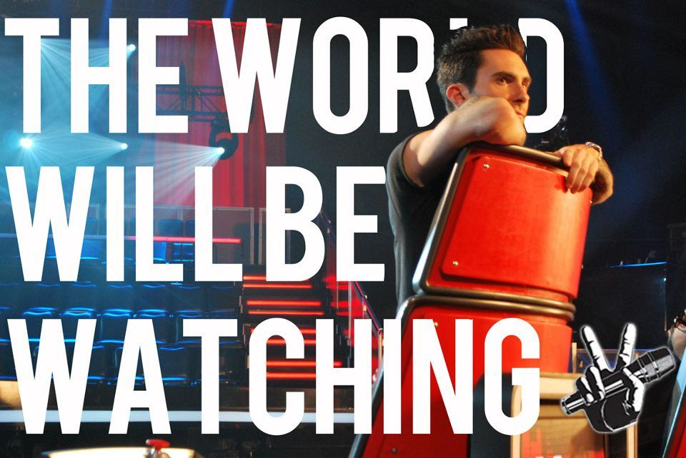 The world will be watching...The Voice! #TheVoice