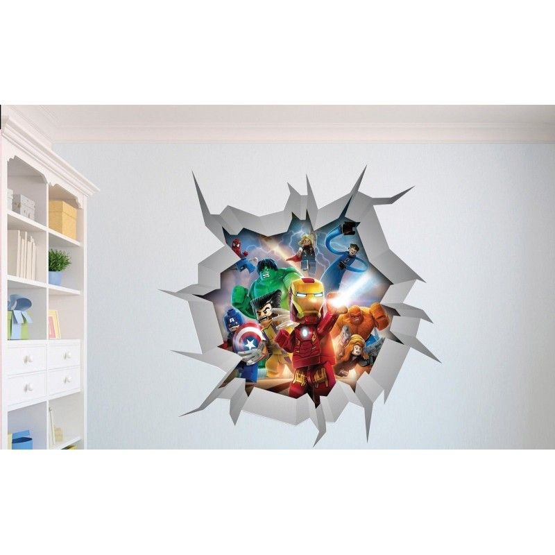 Lego Pirate Vinyl Wall Decals Bing Images Boys Bedroom Ideas - Lego superhero wall decals