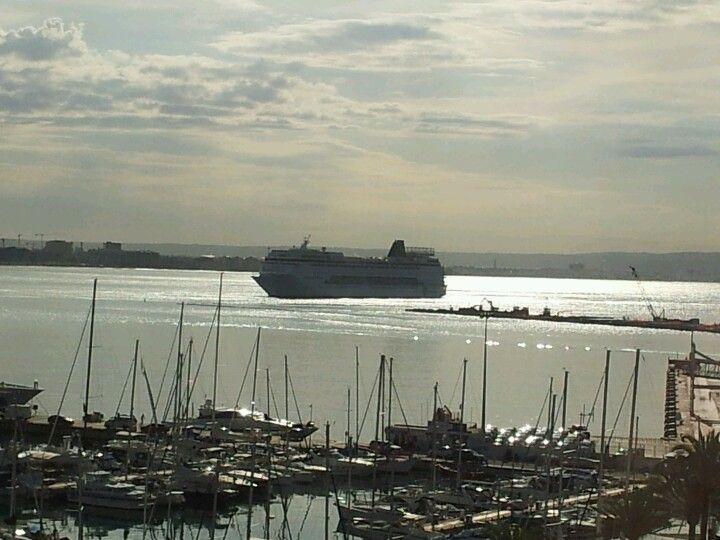 MSC Lirica llegando a Palma