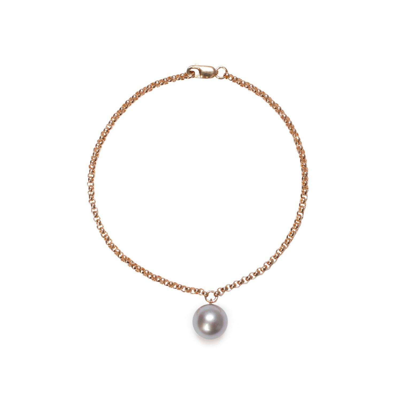 ORA Pearls Sterling Silver Alba Pink & Gold Pearl Bracelet 13bgv