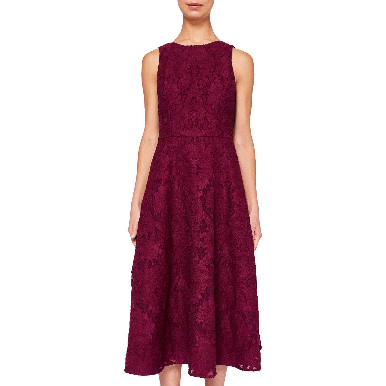 534366a3e9e1 BuyTed Baker Roshi Burnout Jacquard Midi Dress