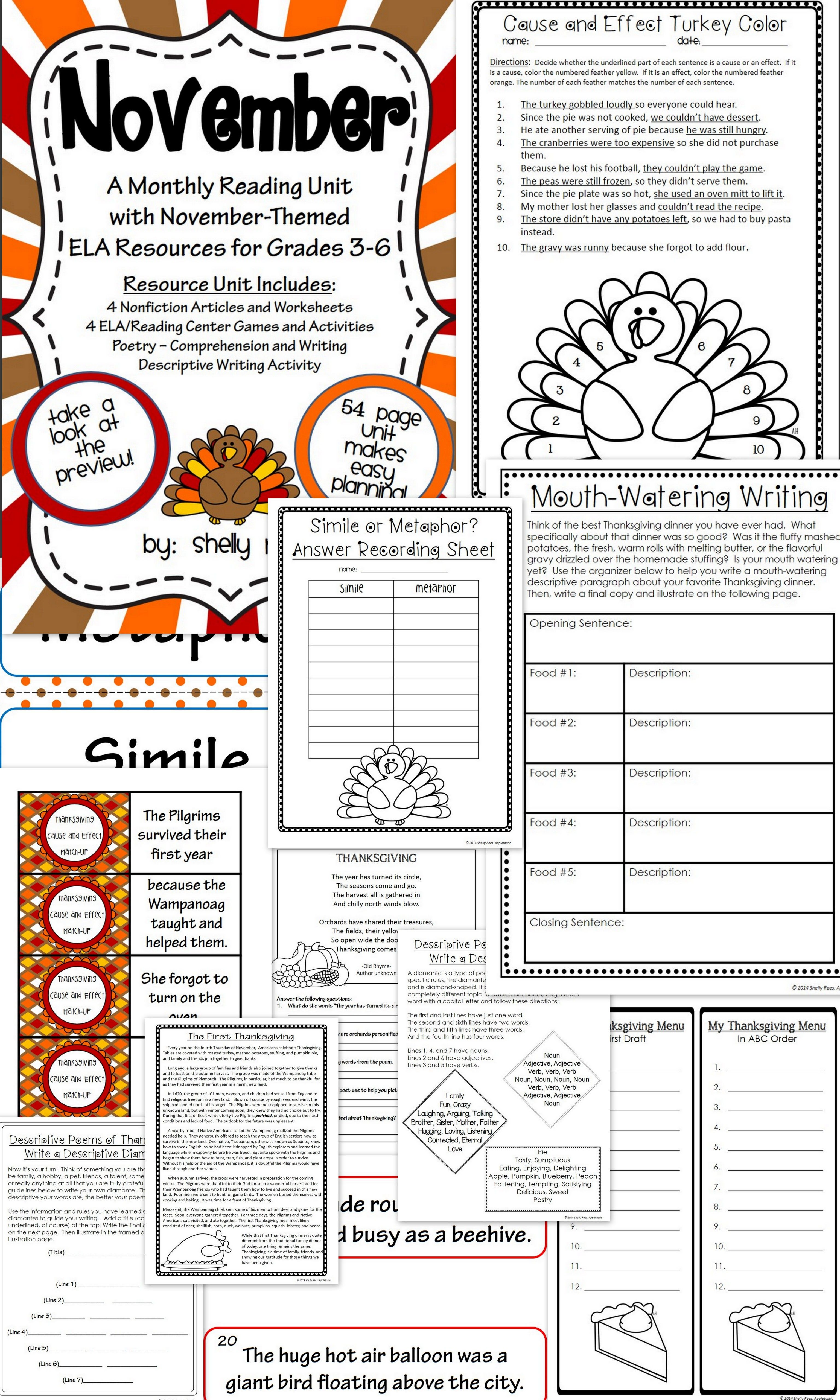 small resolution of November Literacy Centers   November Reading Passages   Fall lesson plans