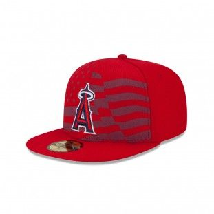 New Era Los Angeles Angels of Anaheim Stars And Stripes 59Fifty Fitted Hat  (Navy)