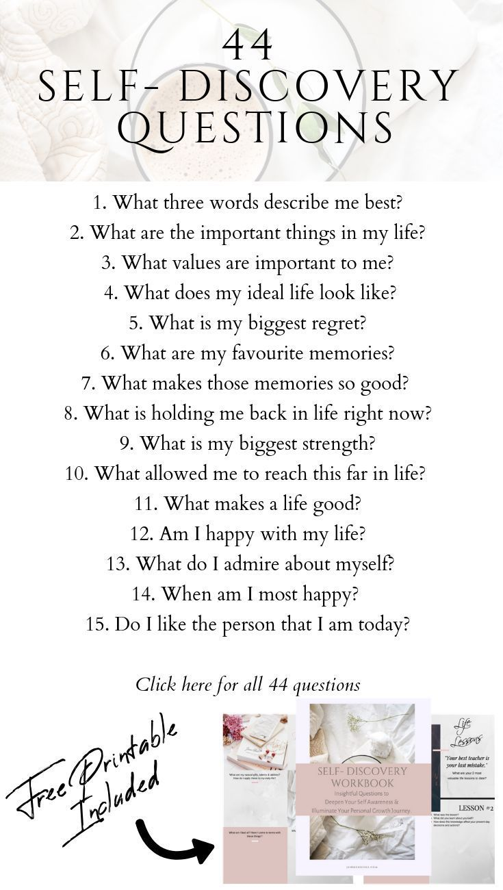44 Self-Discovery Questions to Deepen Your Self Aw
