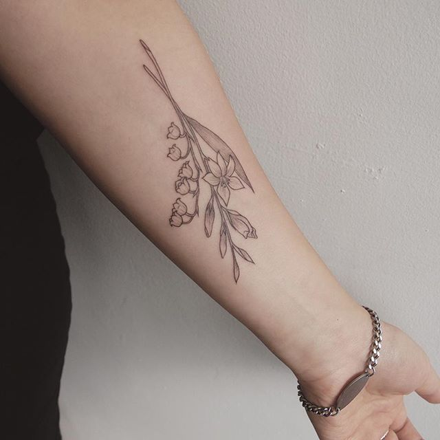 Lily Of The Valley Tattoo: Lily Of The Valley And Gladiolus For An Old Friend @britt
