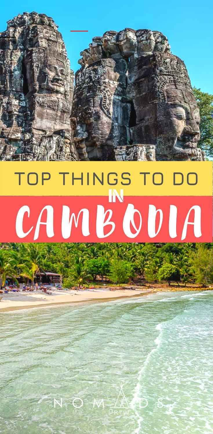 The Ultimate List of Things to Do in Cambodia • Nomads RTW The Ultimate List of Things to Do in Cambodia • Nomads RTW Discover the best things to do in Cambodia with this inspirational post. Find which temples to visit in Angkor, best beaches of Cambodia and some other hidden gems.   Angkor Wat Cambodia   Cambodia photography   Things to do in Cambodia   Cambodia travel   Cambodia travel guide   Travel blogger   Cambodia Beaches   Siem Reap. #Cambodia #CambodiaTravel #SoutheastAsia #ThingsToDo<b