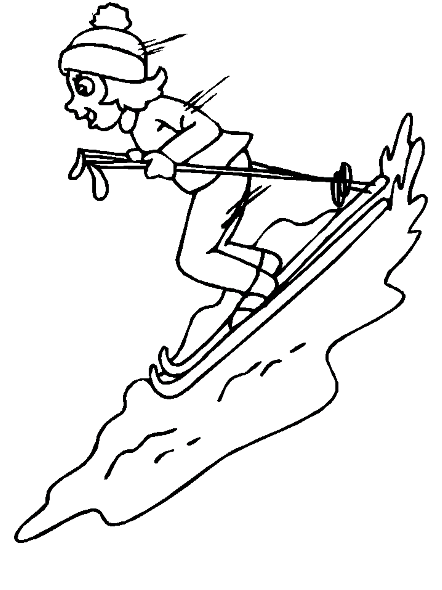 Happily Playing Skiing Coloring Pages For Kids B0v Printable Skiing Coloring Pages For Kids Sports Coloring Pages Coloring Pages Winter Bird Coloring Pages