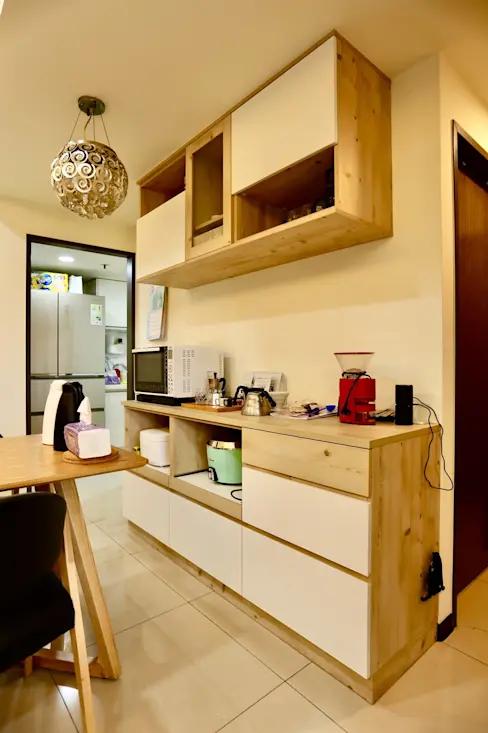 溫馨 樸實 我的家 土城25坪簡約輕裝潢設計 Kitchen Home Decor Decor