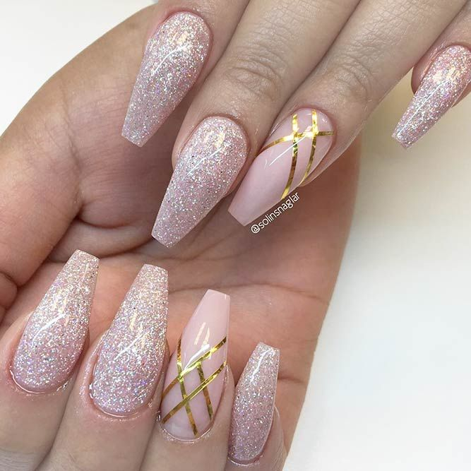 Magnificent Ballerina Nail Shape Designs In 2018 Coffin Nails