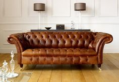Leather Sofa Full Grain British Made Vintage Sofas Chesterfield Settees