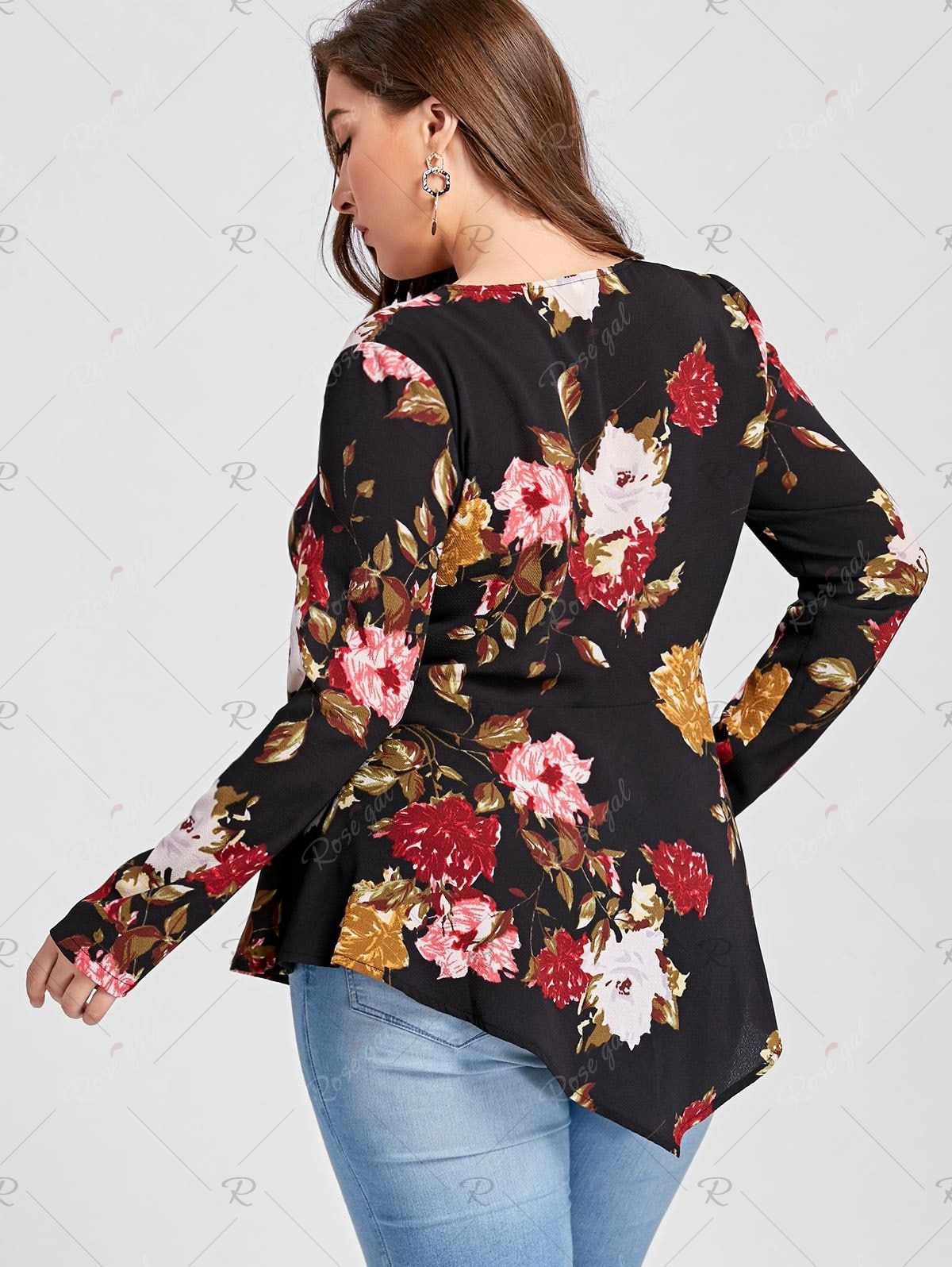 Diligent 2018 New 2xl Plus Size Women Casual Tops Loose Stand Collar Long Sleeve Solid Black Zipper Big Size Shirts Blouses Women's Clothing