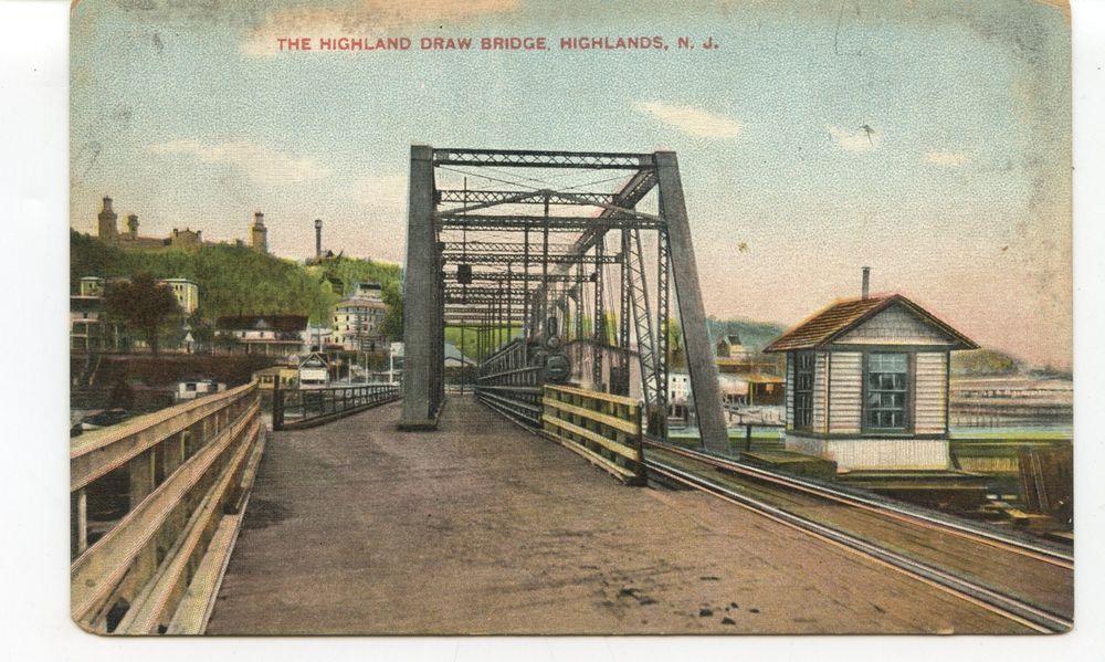 Highland Draw Bridge Highlands Nj C 1905 New Jersey