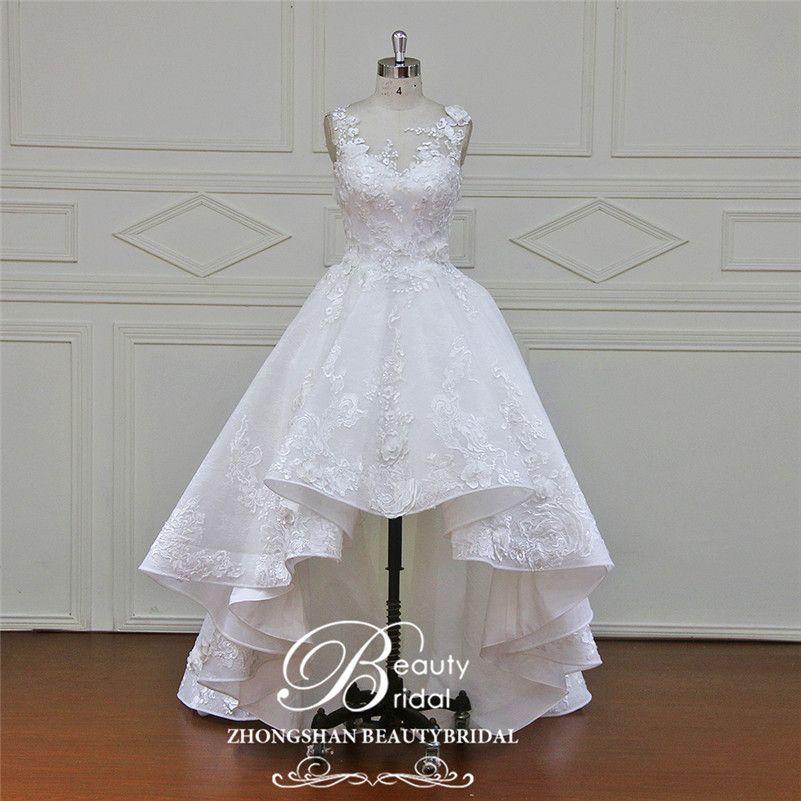 Incroyable Beautybridal Custom Made Robe de mariée sans manches Fleurs Appliques en dentelle …   – Fancy Dresses