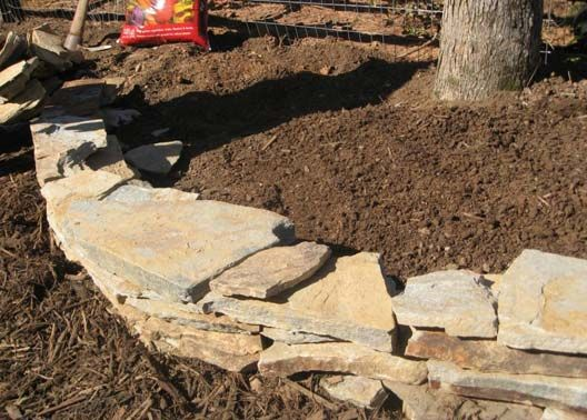 Stacked Stone Garden Edging   Enjoy A New Island Bed   WBTV 3 News, Weather