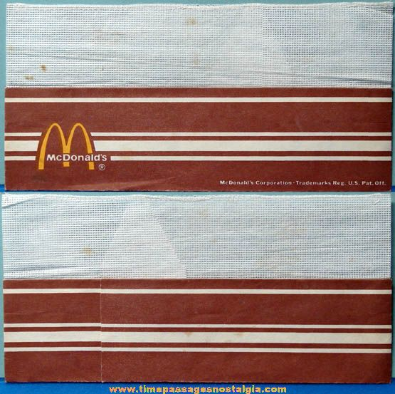 Old McDonaldu0027s Fast Food Restaurant Advertising Employee Uniform - employee uniform form
