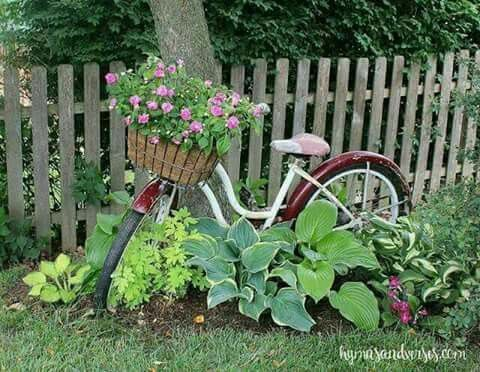 Bike Yard Art Diy Garden Garden Decor Garden