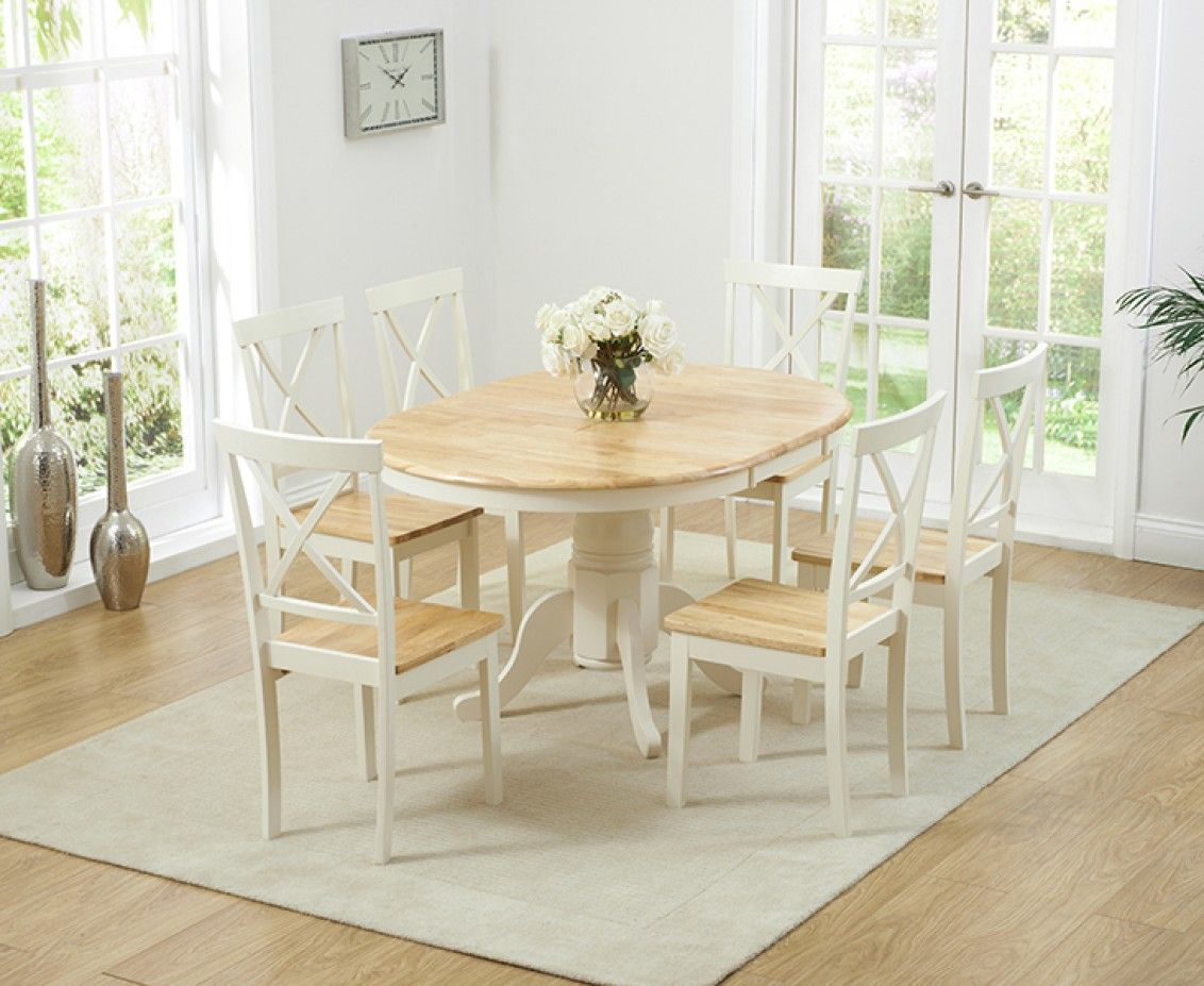 Shop The Epsom Cream Pedestal Extending Dining Table With Chairs At Oak Furniture Superstore Quick Delivery APR Available